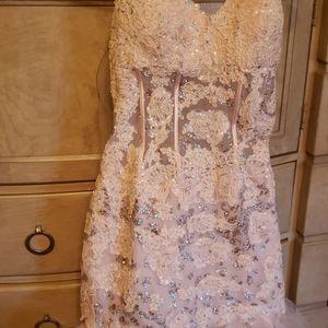 A gorgeous light pinkish sequins stunning dress.
